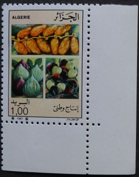 Algeria - date, fig, apple, 1987