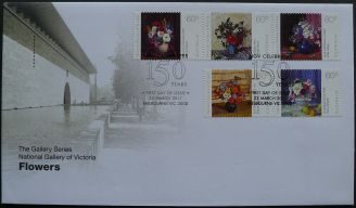 Australia: National Gallery of Victoria, Flowers, first day cover, 2011