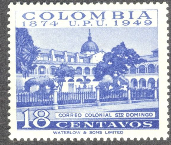 Columbia, sesquicentenary of universal postal service, Central Post Office 1949