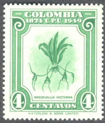 Columbia, orchids, Masdevallia nycterina, 1949
