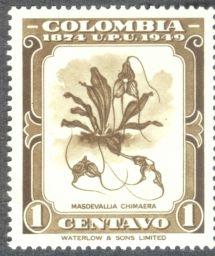 Columbia, orchids, Masdevallia chimaera, 1949