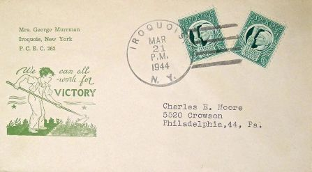 'Dig for Victory' - USA campaign, Second World War - printed envelope