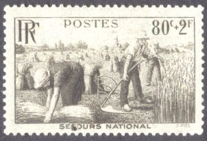 France: Food Security, harvesting, 1940