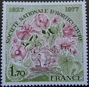 France, sesquicentenary of the National Horticultural Society, 1827 - 1977