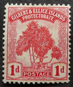 1d stamp, Gilbert & Ellice Islands - now Kiribati & Tuvalu