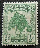 1/2d stamp, Gilbert & Ellice Islands - now Kiribati & Tuvalu