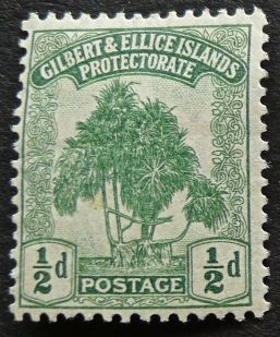 1/2d stamp, Gilbert & Ellice Islands - now Kiribati & Tuvalu