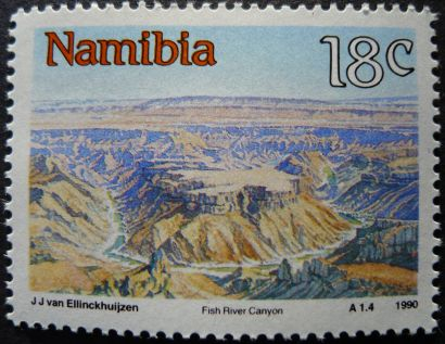 Namibia: Fish River Canyon, 1990
