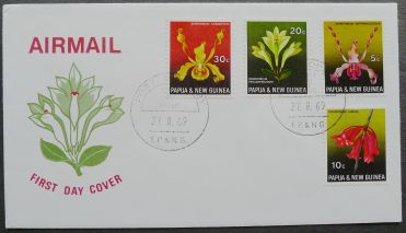 Papua New Guinea, orchids, first day cover, 1966