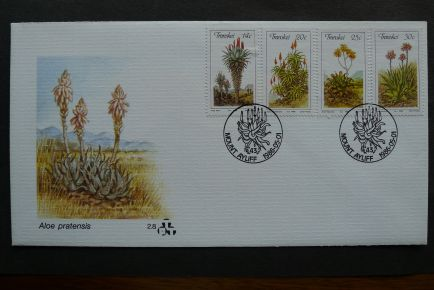 Transkei, native Aloes, first day cover, 1986