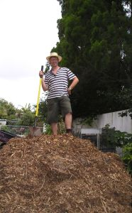 Free mulch from powerline pruning.