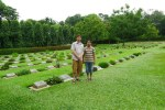 Jerry & Tanbir, at the World War II Commonwealth War Grave at Chittagong, 18th July 2011