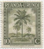 Rwanda-Urundi - Cocos nucifera, coconut. Now Rwanda and Burundi