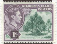Gilbert & Ellice Islands - Pandanus tectorius, Screw pine. Now Tuvalu & Kiribati