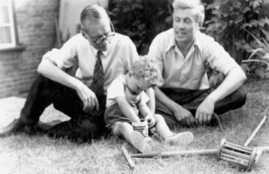 Grandad, Dad, yours truly and our weed-free lawn