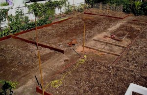 Vegetable garden construction April '05