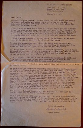 Correspondence from Basil Smith, 4.4.1982