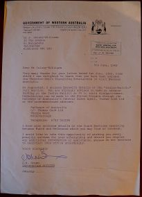 Correspondence from Western Australia House, 5.6.1982