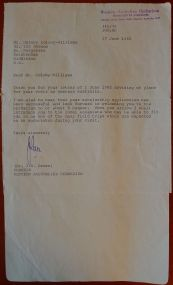 Correspondence from Dr Green, Curator, Western Australian Herbarium, 17.6.1982