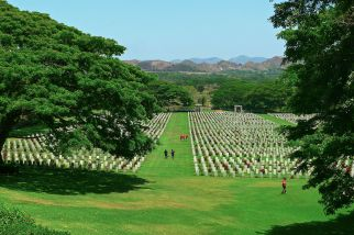 Bomana, a Commonwealth war grave, part of the Kokoda Trail