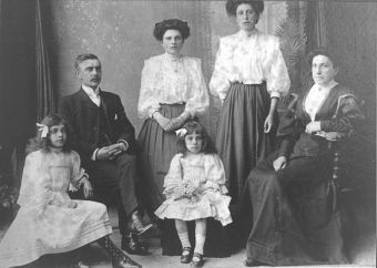 My great grandparents, grandmother and great aunts, Colchester, ca. 1910