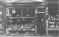 Great grandad William Coleby's greengrocer's store, 37 Maldon Road, Colchester (England), ca 1910