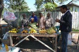 Many families are street vendors. Boroko