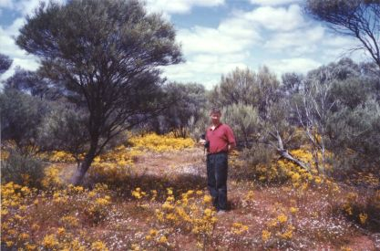 Botanising on my botanical scholarship to Western Australia in 1982. Looking for Levenhookia