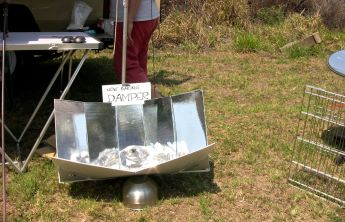 Sizzling Solar Systems: Stan Cajdler demonstrates the art of solar cooking