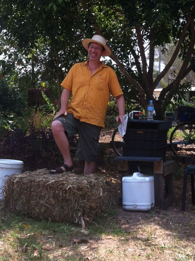 introducing the straw bale: a fool-proof way to farm worms, make mulch, soil improver and your own potting soil