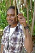 OB with Pandanus tectorius. Nature Park