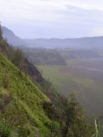 The view from Cemoro Lawang into the Tengger Crater.