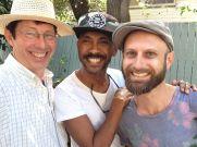 L-R: Ben and Adam, balcony gardeners extraordinaire