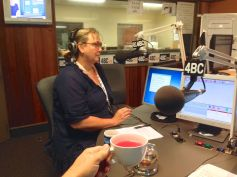 LJ Stockwell, Talking Gardening's Producer at 4BC Radio (with hibiscus tea)