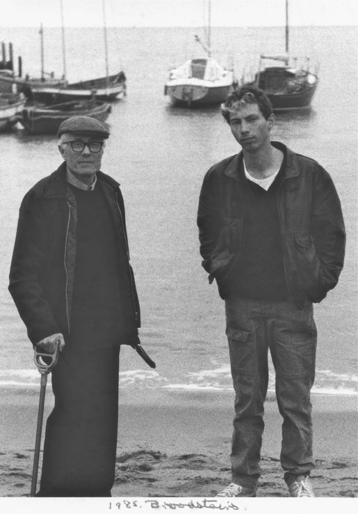 Dad and Jerry, Broadstairs, 1985