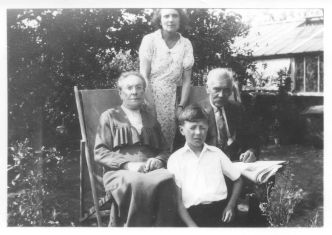 Clockwise: Nan, Great Grandad, Dad, Great Granny Coleby