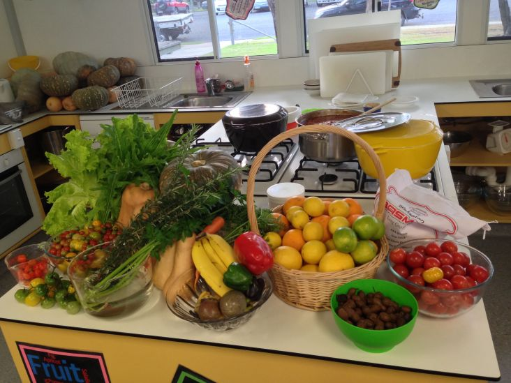 Produce from Biggenden State School food garden