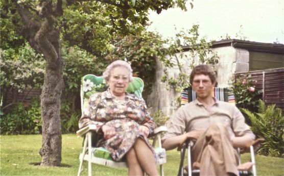 With Great Auntie Vera, 1981