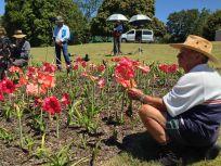 ABC TV filming a unique gardener