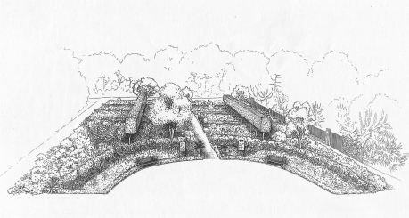 My landscape design for the Rare and Endangered Plants Garden, 1998