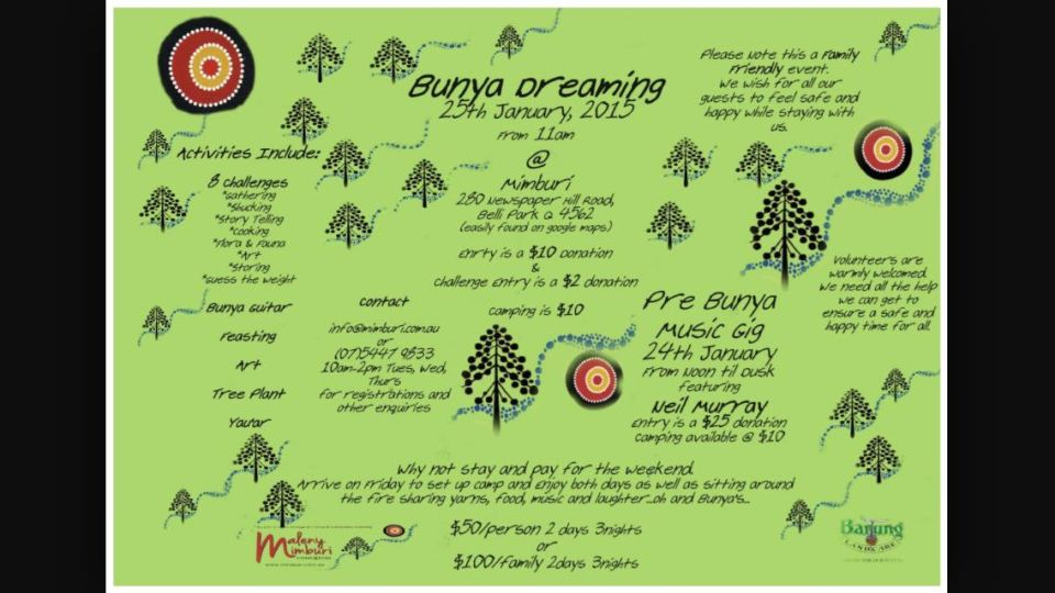 Bunya Dreaming, re-established by Barung Landcare