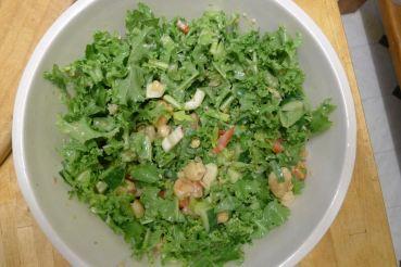 Bunya nut/ endive salad with lime/ horseradish dressing