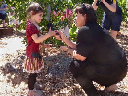 ABC Western Queensland interviews a young Barcaldine gardener