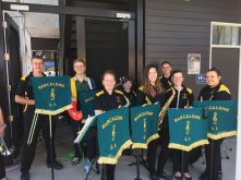 Barcaldine Youth Band after playing The Muppets Theme