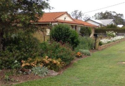 Cherie's garden spills into a 'not quite a footpath garden'