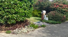 Debra's footpath and garden merge seamlessly