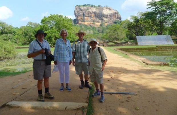 Like Qld's Glasshouse Mountains, Sigiriya's volcanic plug dominates the landscape