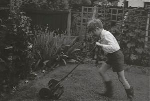 Mowing grandad's lawn, London