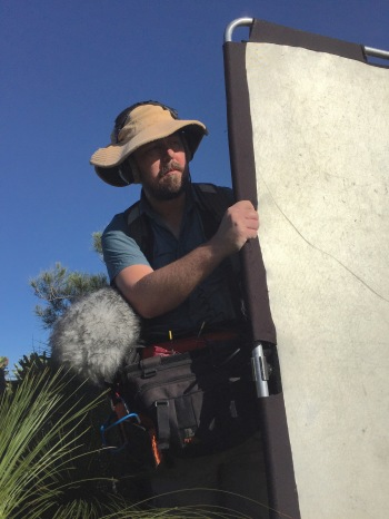 Chris illuminates a shot. Noosa National Park