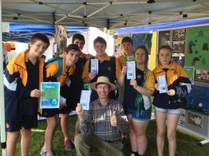 Gladstone High School students encourage residents to use low phosphorous detergents to avoid harm to coral reefs.